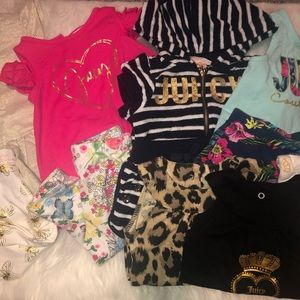 Lot of Juicy Couture outfits/onesies- 12 months
